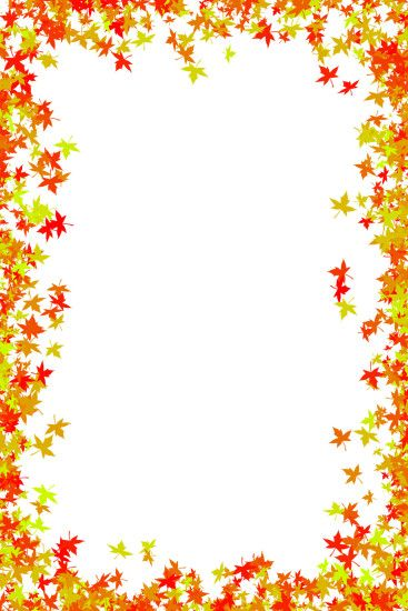 Fall Foliage Border Free | download photo frame of maple leaves in red and  orange colors. Background ...