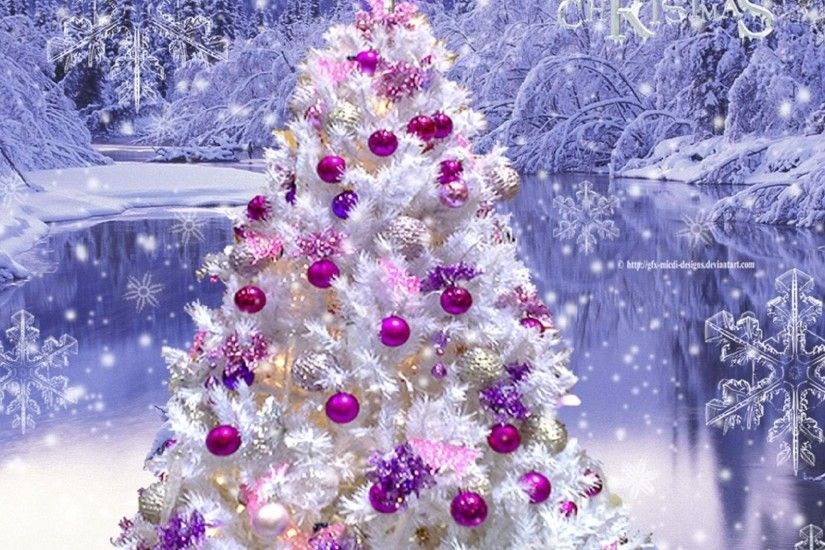 Pink Christmas Tree Wallpaper