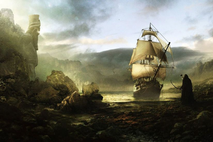 hd pics photos art abstract old ship desktop background wallpaper