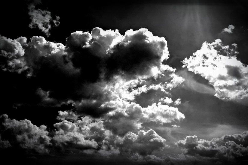 clouds, Dark, Sky, Monochrome Wallpapers HD / Desktop and Mobile Backgrounds