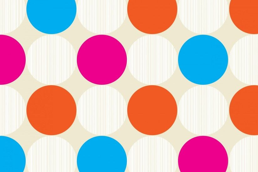 Polka Dots Colorful Background