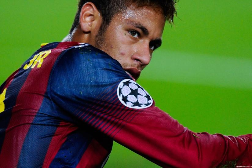 ... Neymar on grass Barcelona wallpaper ...