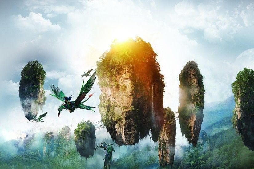 Avatar, Neytiri, Floating island, Flying