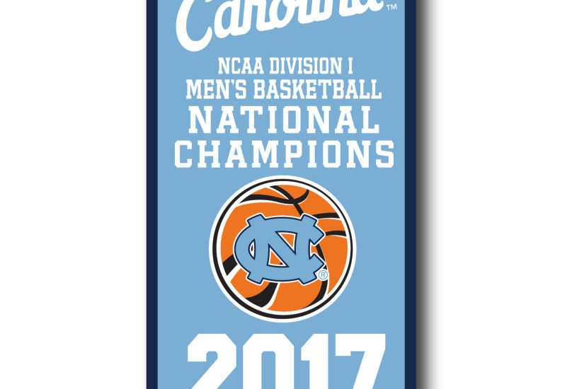 "North Carolina Tar Heels 2017 NCAA Men's Basketball National Champions 18""  x 36"" Vertical"