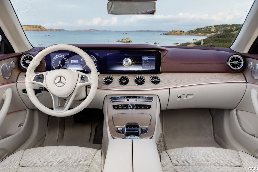 2018 Mercedes-Benz E-Class Cabrio - Titan Red / Macchiato Beige Interior,  Cockpit HD