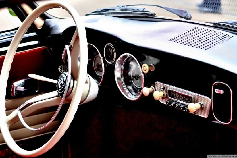Classic Car Interior Wallpaper