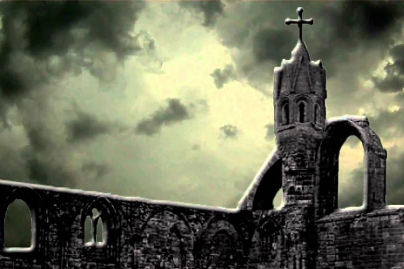 Scary Halloween Haunted Church - Free background video 1080p HD stock video  footage