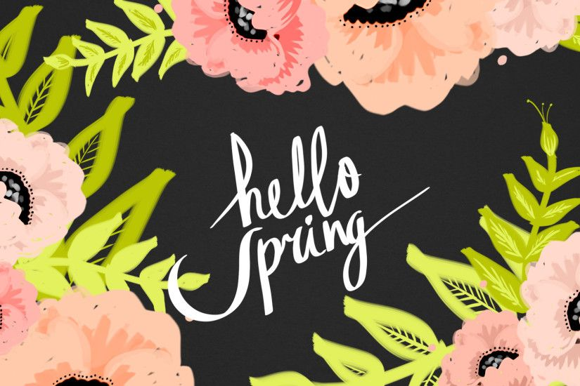 Hello Spring / floral desktop wallpaper from cocorrina.com #spring #floral # wallpaper