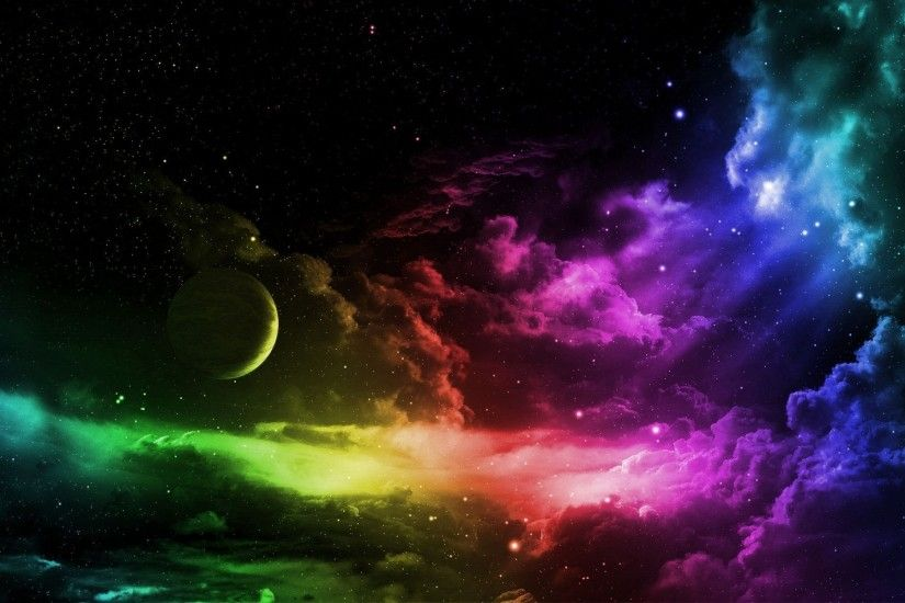 Wallpapers For > Trippy Outer Space Backgrounds · Rainbow WallpaperStar ...