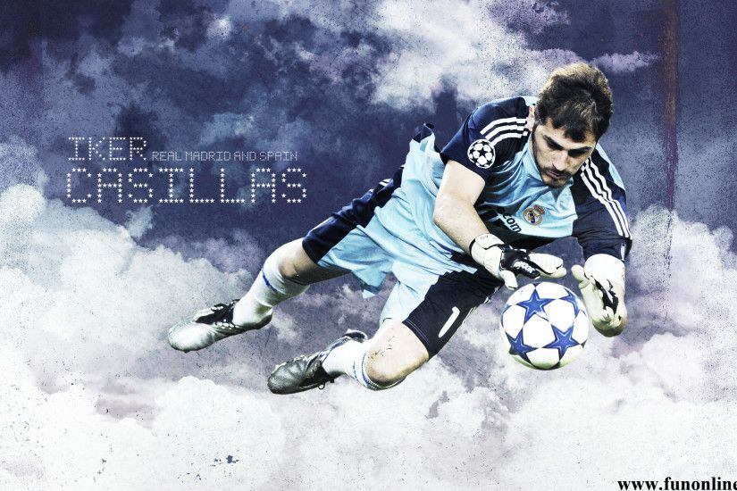 The football player Real Madrid Iker Casillas