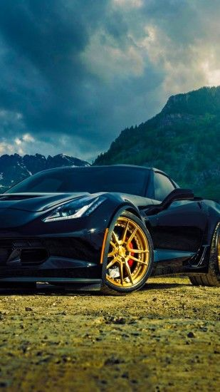 Corvette Z06 Back Mountain Front View Wallpaper | Wallpapers Byte .
