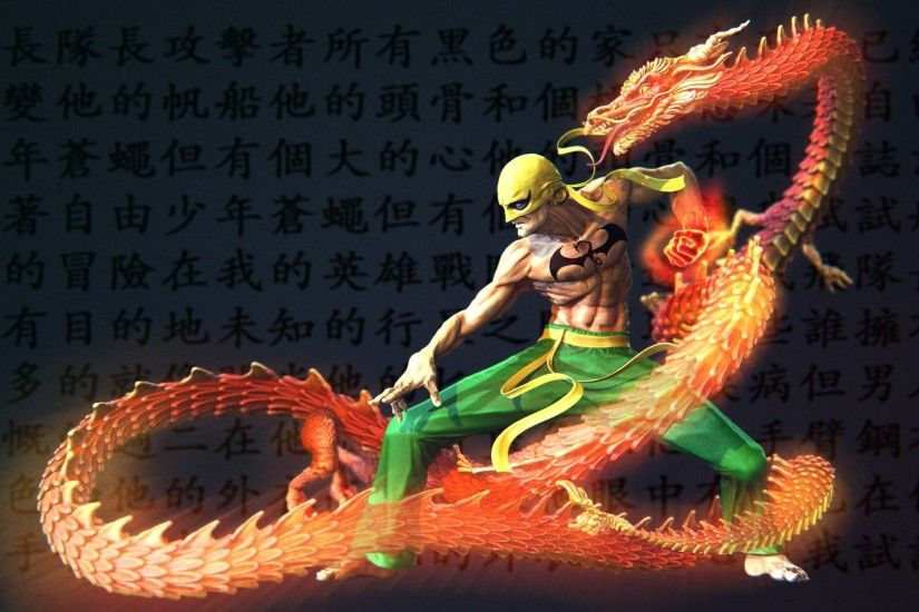 ironfist snake marvel wallpaper