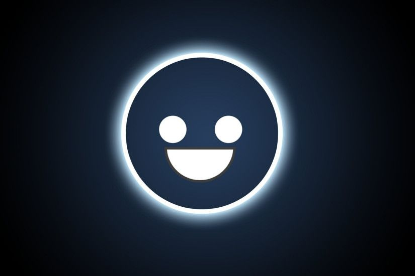2048x1152 Wallpaper smiley, face, smile, light