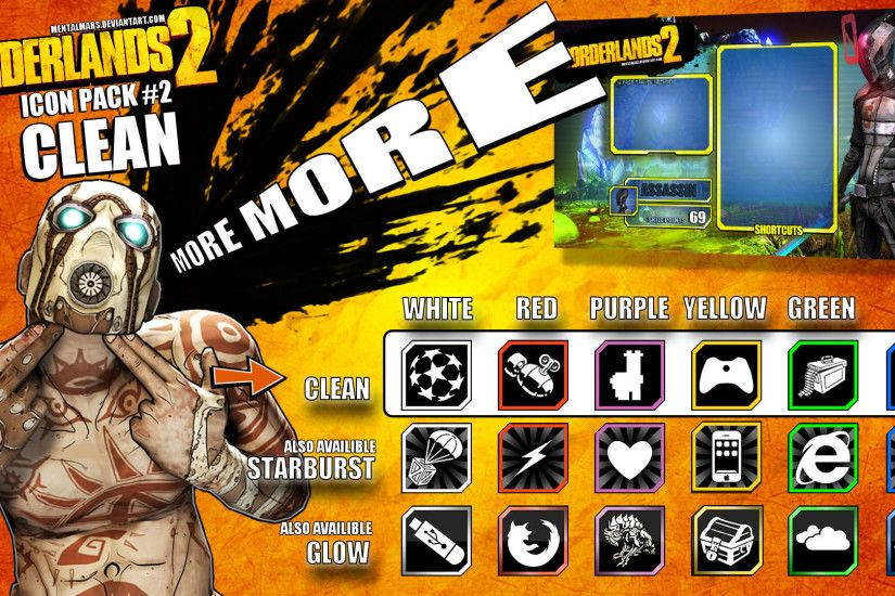 ... Borderlands 2 Icon pack 2 - CLEAN by mentalmars