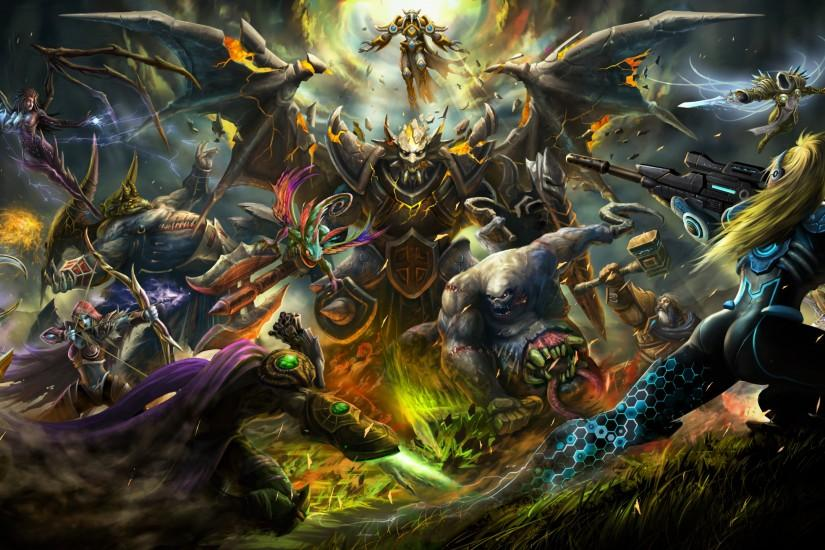 widescreen heroes of the storm wallpaper 2560x1440