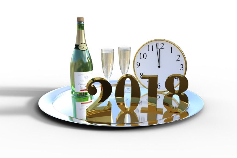 Holiday - New Year 2018 New Year Holiday Champagne Wallpaper