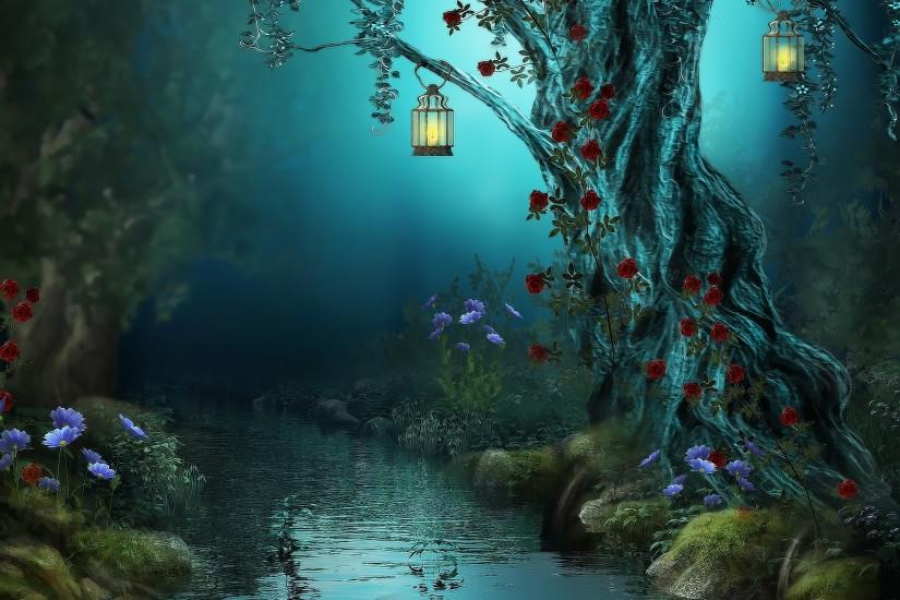 Fantasy Forest Wallpaper High Definition Free Download Wallpapers  Background 3000x2000 px 1.92 MB 3d & abstract