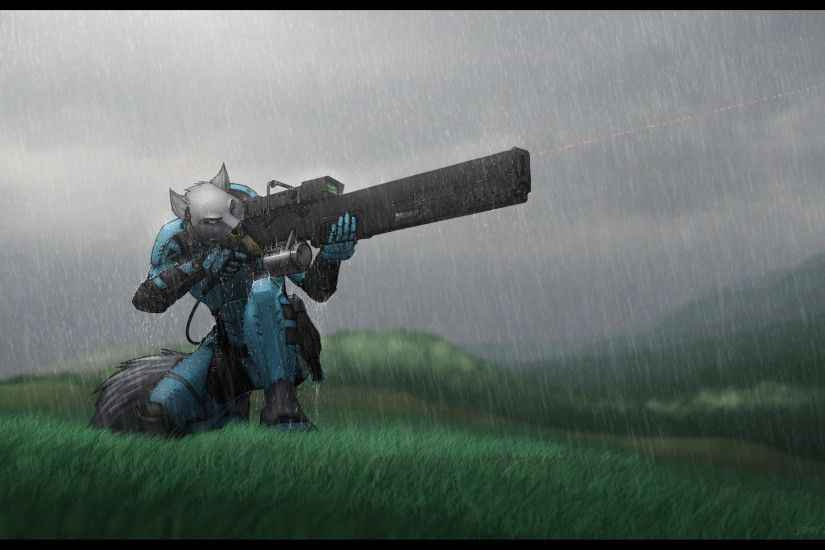furry, Anthro, Gun, Robotic Wallpapers HD / Desktop and Mobile .