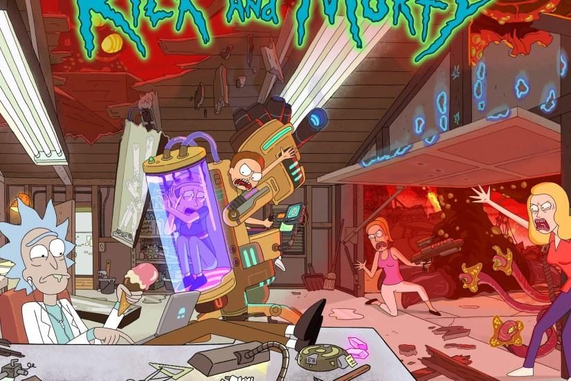 download free rick and morty background 3840x2160