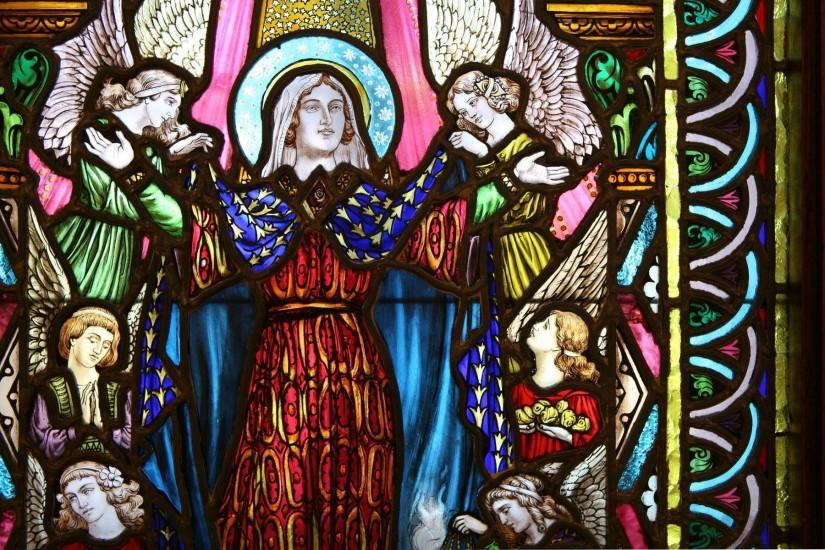 Catholic Stained Glass Wallpaper ...