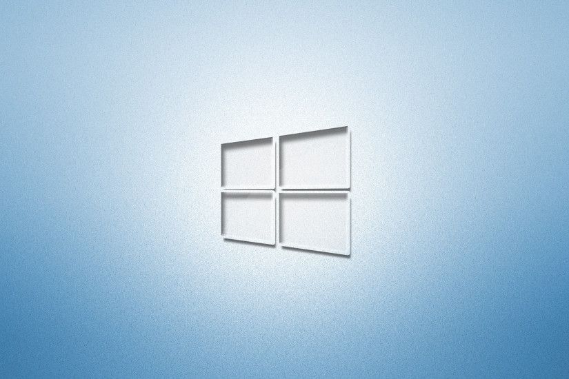 Glass Windows 10 on light blue wallpaper