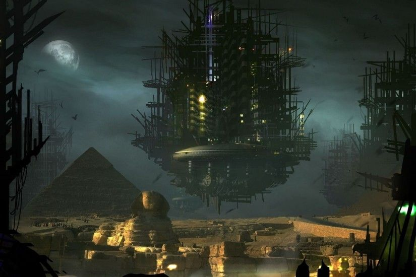Alien Spaceship Above The Pyramids