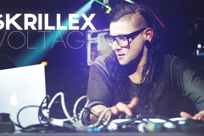 Preview wallpaper skrillex, dj, show, name, light 1920x1080