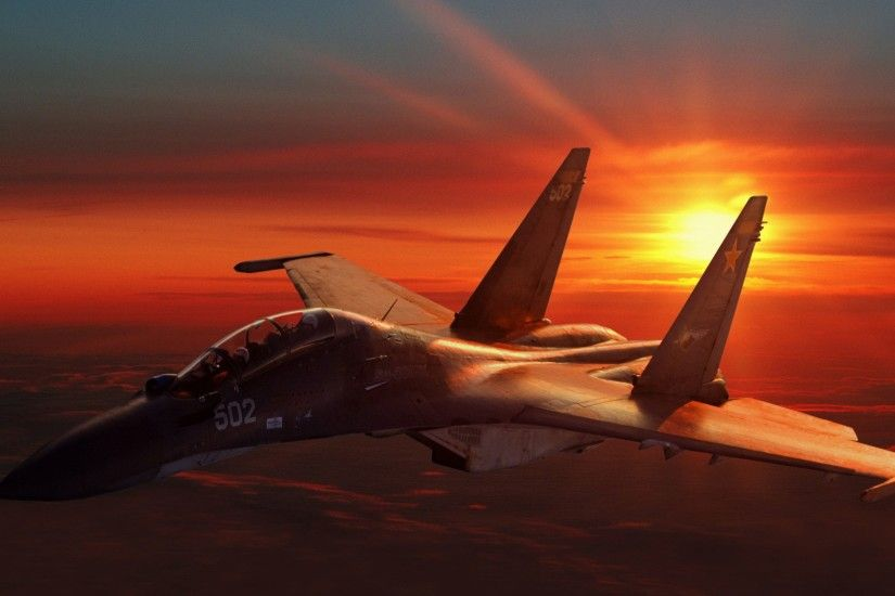 SU 30 MK Fighter Plane Wallpaper