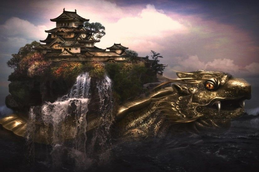 3D City On A Dragon Wallpaper | HD 3D and Abstract Wallpaper Free Download  ...