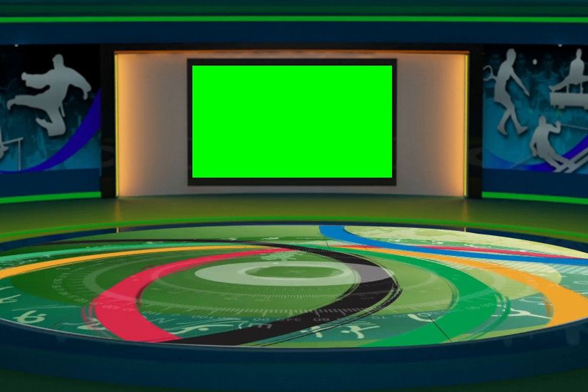2016 Rio Olympics Sports TV Studio Set 01 - Virtual Green Screen Background  Loop Stock Video Footage - VideoBlocks
