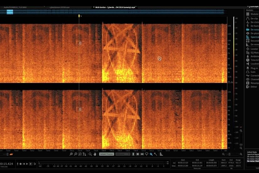 "PENTAGRAM & 666 EMBEDDED IN ""CYBERDEMON"" CONFIRMED - DOOM Soundtrack  Spectrograph - YouTube"