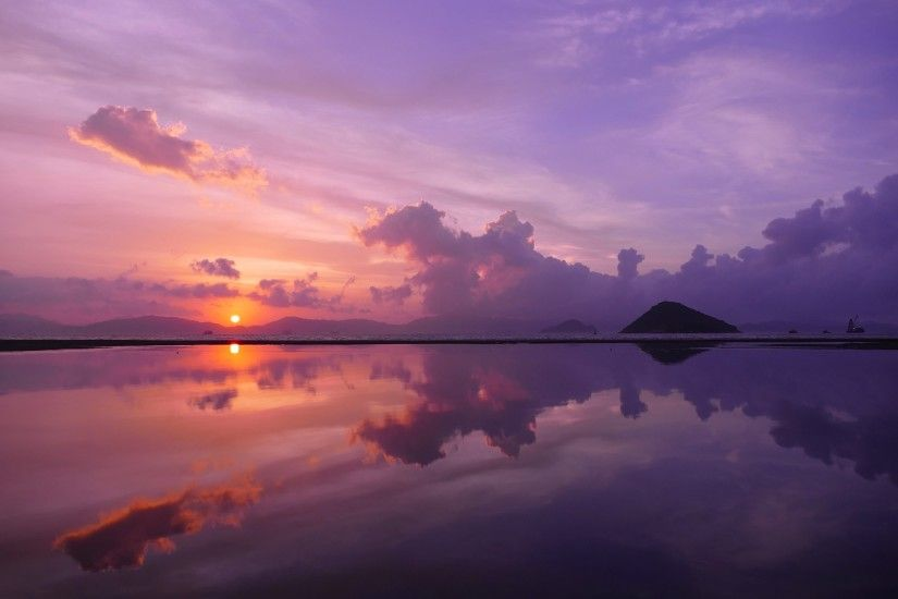 landscape, Nature, Water, Sunset, Clouds, Reflection, Mirrored
