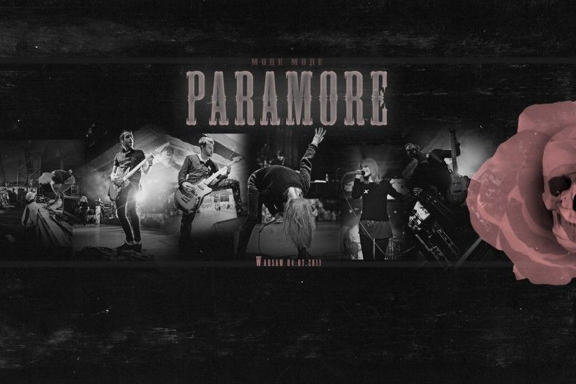 Preview wallpaper paramore, band, concert, action, skull 1920x1080