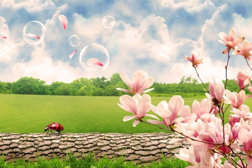 Images For > Spring Scenes Wallpaper