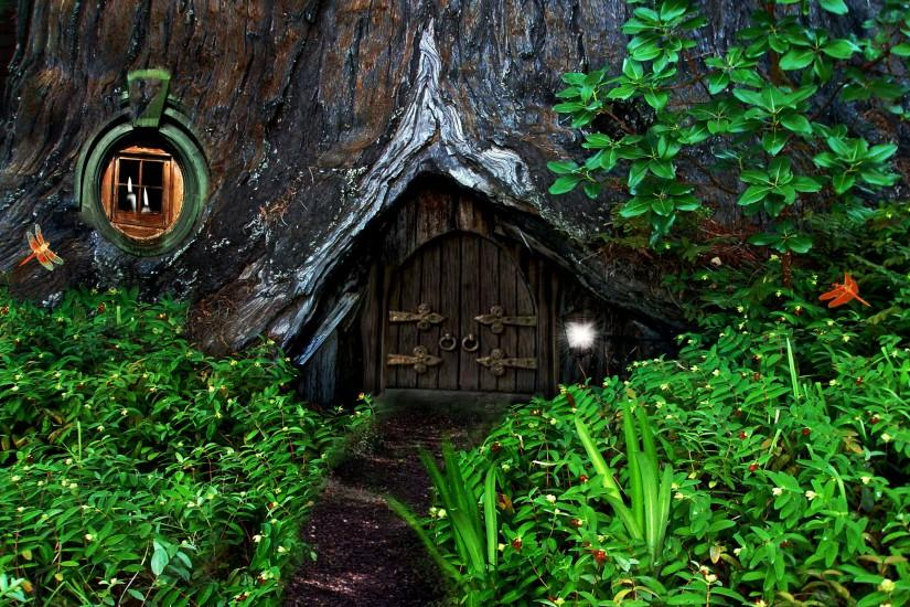 Hobbit fantasy forest trees house home wallpaper | 2560x1600 | 91214 |  WallpaperUP