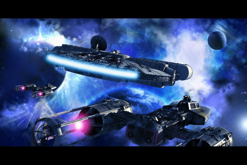 Sci Fi - Star Wars Spaceship Planet Sci Fi Space Millennium Falcon Wallpaper