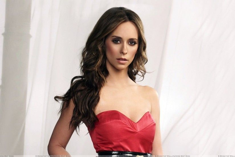 "You are viewing wallpaper titled ""Jennifer Love Hewitt In Red Dress Looking  Front ..."