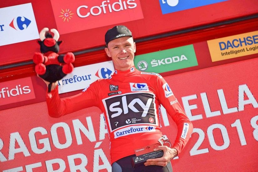 Chris Froome extended his overall lead at the 2017 Vuelta a Espana by  storming to time trial victory on stage 16 (Pic: Sirotti)