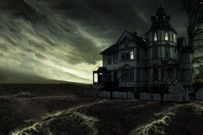 Wallpapers For > Haunted House Wallpapers Hd