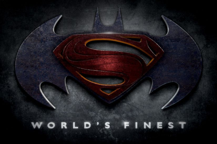 "Batman - Superman - Justice League Logos in the Style of ""Man of Steel"""