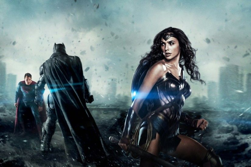 Movie - Batman v Superman: Dawn of Justice Batman Superman Wonder Woman Gal  Gadot Wallpaper