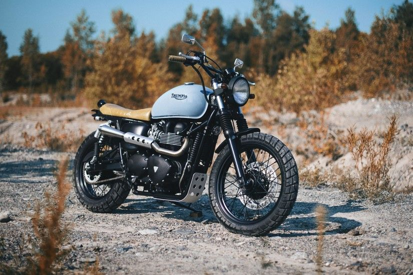 3840x2160 3840x2160 Wallpaper triumph, bonneville, bike, side view