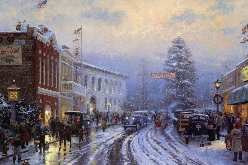 Thomas Kinkade Christmas 343354