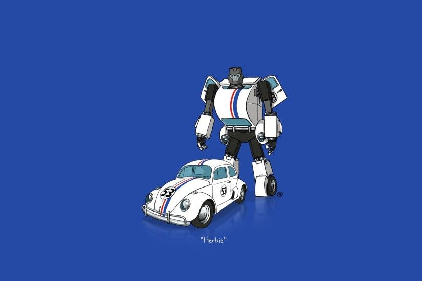 car, Transformers, Minimalism, Herbie Wallpapers HD / Desktop and Mobile  Backgrounds
