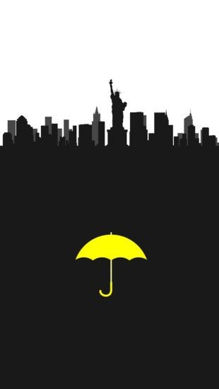 himym yellow umbrella ted mosby tracy mcconnell marshall eriksen lily  aldrin robin sherbatsky barney stinson newyork wallpaper iphone wallpaper
