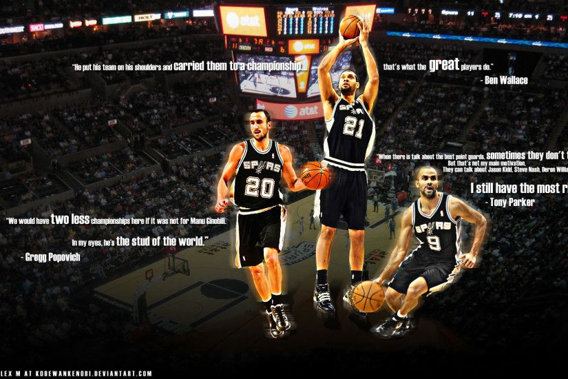Spurs Big Three Wallpaper