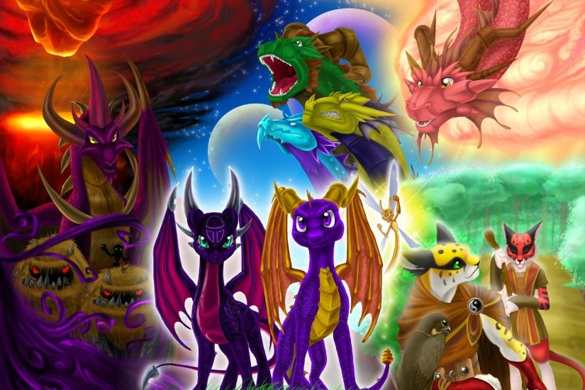 Video Game - Spyro the Dragon Malefor (Spyro) Sparx the Dragonfly Cynder ( Spyro