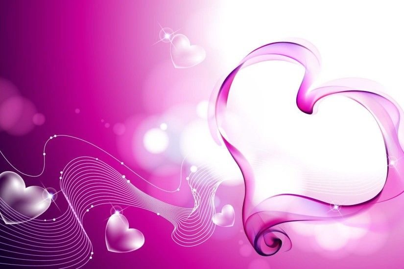 Pink Heart HD | HD 3D and Abstract Wallpaper Free Download ...
