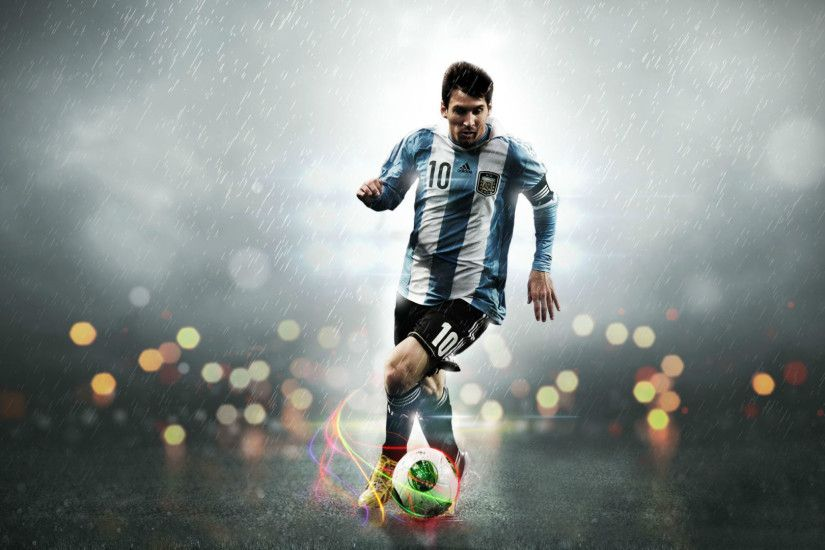 Famous Soccer Messi Football Playing Wallpaper