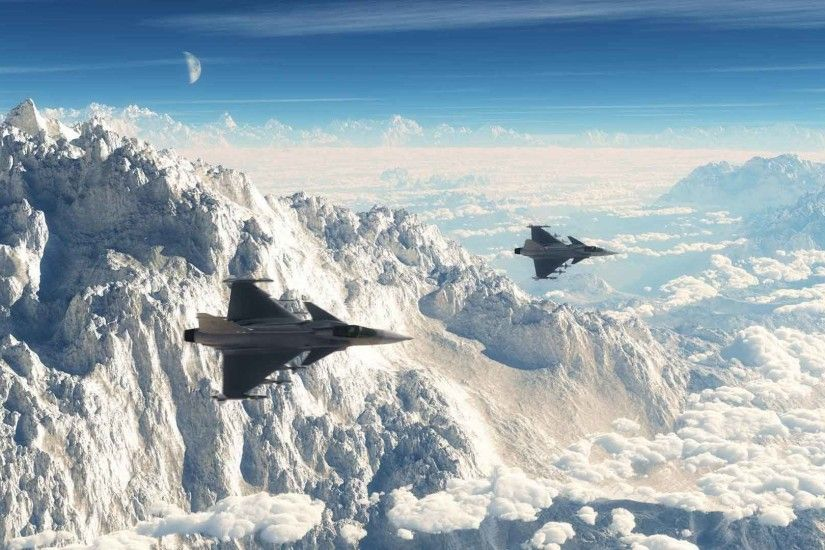 Mountains Resimler Dassault Saab Gripen Rafale Aircraft Moon Nature Picture  Download For Mobile
